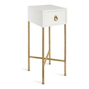 Modrest Nixa Modern White And Gold Nightstand Contemporary Nightstands And Bedside Tables By Vig Furniture Inc