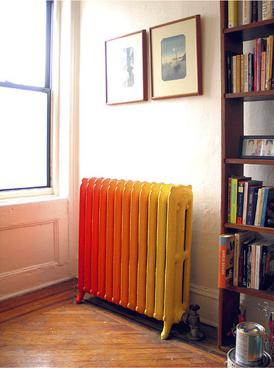 Eclectic Painted Radiator   Brooklyn, NY  By Wary Meyers Decorative Arts