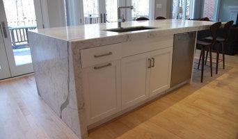 Custom Kitchen Design Statuario Marble