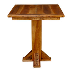 """Barn Wood Table, Pub Table 42"""" High with 36"""" Square Top with Clear Lacquer"""