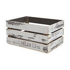 Timeline Wood Crate, White