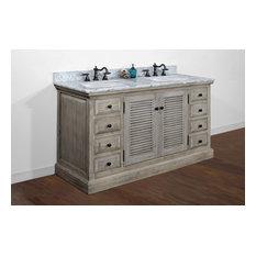 Finnegan Double-Sink Bathroom Vanity With Carrara White Marble Top 60-inch
