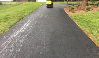 Asphalt paving job
