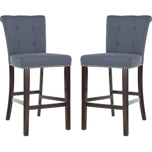 Taylor Bar Stool (Set of 2) - Navy, Espresso