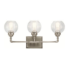 Kichler 45592AP Niles Bathroom Light, Antique Pewter