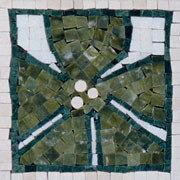 Emerald Hibiscis Mosaic Insert - Tile