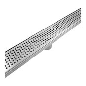 """Linear Shower Drain Trench and Grate, 48"""", Standard"""