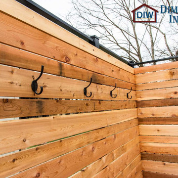 Composite and Cedar Deck for 7 Person Hot Tub Spa in Columbia
