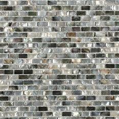 Deep Sea Black Pearl Mini Brick Pattern Tile