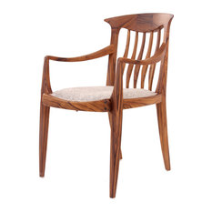 Wooden low back chair