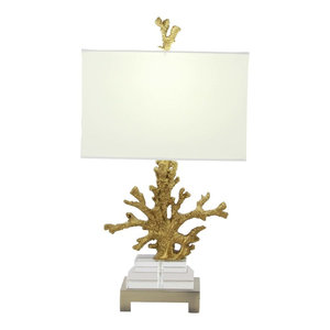 Beach Style Ceramic Coral Table Lamp