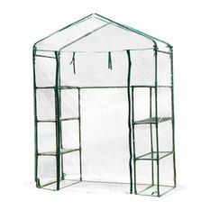 Garden Backyard 3 Shelf Mini Walk-In Greenhouse