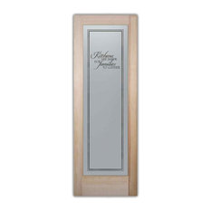 Sans Soucie Art Glass   Pantry Door Family Kitchen Etched Glass Door, 24