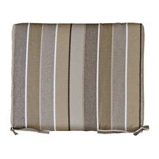 Outdoor Rocker Cushion, Sunbrella Fabric, Milano Charcoal