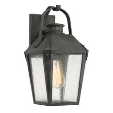 Quoizel Carriage Outdoor Lantern, Mottled Black, 100W