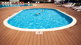 Social outdor swimming pools