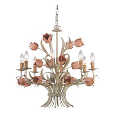 Crystorama Lighting Group 4808 Southport Chandelier, Sage/Rose