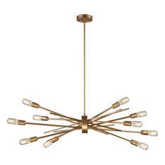 Xenia 10 Light Chandelier in Matte Gold