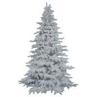 Vickerman 6.5' Flocked White Spruce Artificial Christmas Tree Unlit