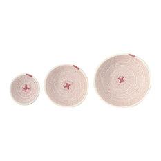 Cotton Rope Bowls, Vintage Pink, Set of 3