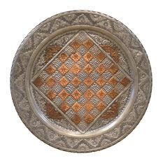 ABC RUGS KILIMS - Persian Engraved Checker Plate Ghalamzani 20  Round - Decorative  sc 1 st  Houzz & Most Popular Decorative Copper Plates | Houzz