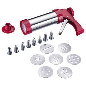 17-Piece Cookie Press and Icing Gun Set