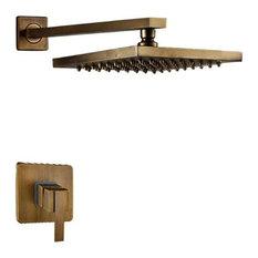Fontana Rivera LED Rain Shower Head, Shower Head Copper