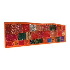 Mogul Interior - Orange Indian Patchwork Table Runner - Table Runners