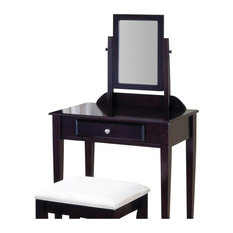 Coaster 2 Piece Bedroom Vanity Set in Espresso and Ivory