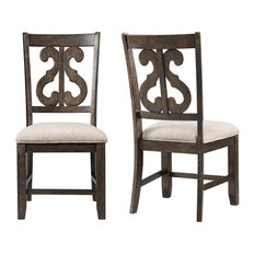 Picket House Furnishings Stanford Dining Chair in Walnut (Set of 2)