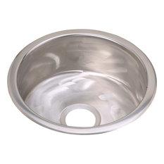 Elkay Stainless Steel Single Bowl Dual Mount Bar Sink, Rugged Textured