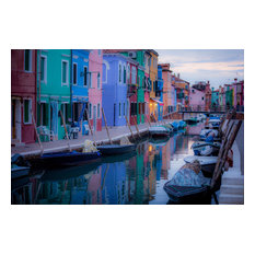 "Burano Reflections, Canvas Giclee, 12""x8"""