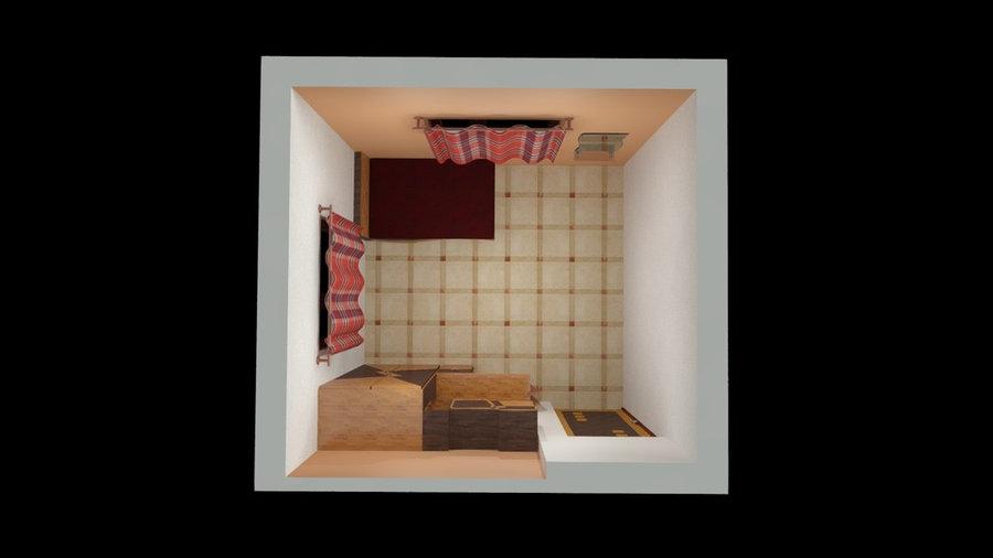 Living room 3D Render  Plan