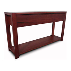 - Lumino Jarrah 2 Drawer Hall Table - Console Tables