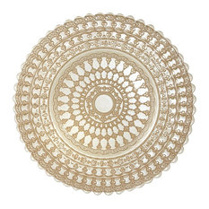 Elegance Lace Glass Dining Charger Plates, Set of 4