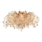 Campobasso 7-Light Linear Flush Mount, Amber