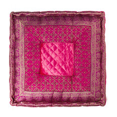 """LIFESTYLE - Sumatra 18""""x18"""", Hot Pink - Floor Pillows and Poufs"""