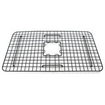 Sinkology - SinkSense Ellis 27 x 15 Kitchen Sink Bottom Grid, Matte Black - Prolong the look and life of your sink by protecting the surface with the Ellis Matte Black bottom grid by the team of experts at Sinkology. Crafted with 7-gauge stainless steel, the Ellis is finished with a protective powder coating in a matte black finish to coordinate perfectly with sinks, accessories, or kitchen appliances. The Ellis comes with rubber feet on the bottom of the grid to prevent scraping or scratching. The Ellis can be used in any kitchen sink, but its 27 x 15x 2 measurements are exacted for use within Sinkology sinks. Sinkology's bottom grids are dishwasher safe, handmade in the USA, and protected with our Everyday Promise lifetime guarantee.