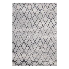 Abani Nova Nov120A Distressed Geometric Area Rug Gray, 6'x9'