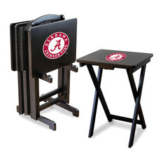 University of Alabama TV Trays With Stand, Set of 4