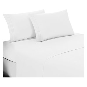 Extra Deep Pocket Home Collection Premium 4 Piece Printed Bed Sheet Set
