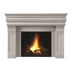 Fireplace Stone Mantel 1106.511 With Filler Panels, Natural, No Hearth Pad