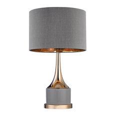 Small Gold Cone Neck Lamp