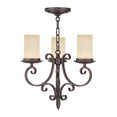 3-Light Imperial Bronze Mini Chandelier
