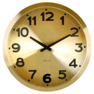 Karlsson Gold Station Wall Clock