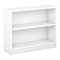 Bush Universal 2-Shelf Bookcase, Pure White