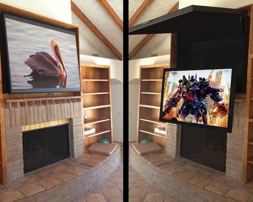 Hidden Tv Behind Artwork