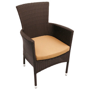 Stockholm Outdoor Dining Chairs, Brown, Set of 2