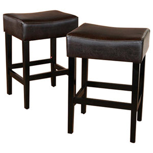 Gdf Studio Chantelle Studded Accent Leather Counter Stools