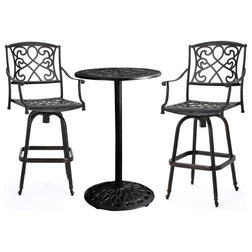 Popular Garden Treasures Count Black Steel Patio Conversation Chairs SKU Possibly only regularly